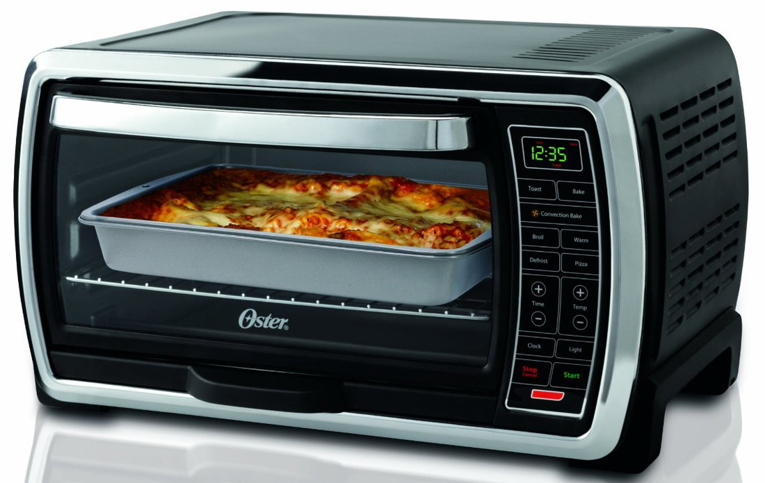 Oster Tssttvmndg Digital Large Capacity Toaster Oven Blackpolished Stainless Accents